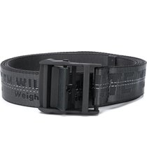 off-white classic industrial buckle belt - black