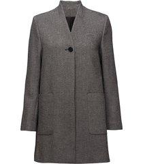 lara coat wollen jas lange jas grijs filippa k