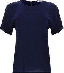blusa cremallera en espalda color azul, talla 6