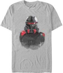 star wars men's jedi fallen order purge trooper portrait sketch t-shirt