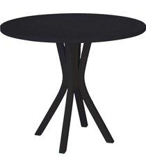 mesa de madeira redonda de madeira felice 410 preto - maxima