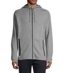 puma men's drawstring hooded jacket - grey - size xxl