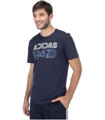 camiseta adidas mh lineage - masculina - azul escuro