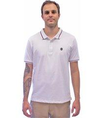 camisa polo blanks co polo1213 listra bks white