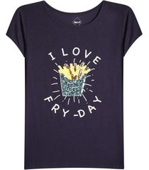 camiseta mujer fry-day color azul, talla l