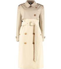 burberry cotton gabardine long trench coat