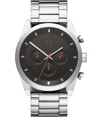 mvmt element chronograph bracelet watch, 44mm in silver/black/silver at nordstrom