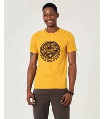 camiseta slim estampada malwee amarelo - m