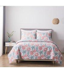 hedaya home south beach king cotton quilt and sham set