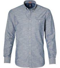 lerros overhemd - modern fit - grijs