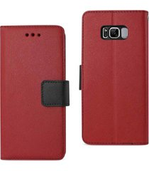 reiko reiko samsung galaxy s8 edge/ s8 plus 3-in-1 wallet case in red