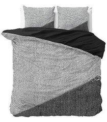 pościel bawełniana komplet black gray 200x220 cm