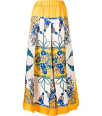 gucci extreme wide-leg trousers - yellow