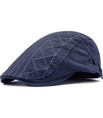 striscia di cotone ricamata modello artistico young berretto da berretto traspirante assorbire il cappello di berretto di sudore
