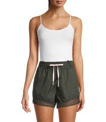 nylon & mesh shorts
