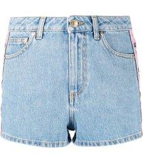 chiara ferragni thigh-length shorts - blue