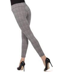 glen plaid shaping women's leggings
