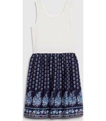 vestido sin mangas azul gap