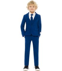 boy's opposuits navy royale two-piece suit with tie (toddler, little boy & big boy)