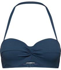 seafolly twist front bustier bandeau bikinitop blå seafolly