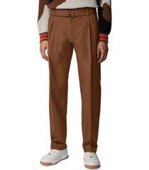 boss men's parko-pleats dark brown pants