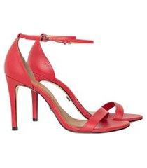 lez a lez - sandália minimalista couro vermelho bulgaria