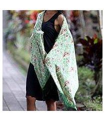 silk batik shawl, 'bogor lady' (indonesia)