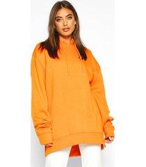 extreme oversized hoodie, orange