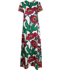 la doublej floral print swing dress - green