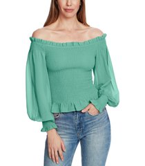 1.state smocked off-the-shoulder top