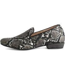 zapato piton negro 322 moca