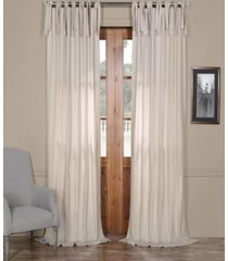 """exclusive fabrics & furnishings solid cotton tie-top 50"""" x 84"""" curtain panel"""