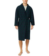 nautica men's plush knit robe