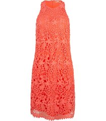 esqualo jurk lace sleeveless coral rood