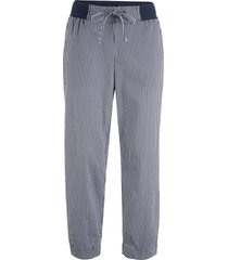 pantaloni cropped in misto lino (blu) - bpc bonprix collection