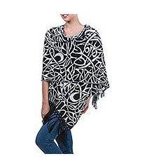 alpaca blend shawl, 'andean art nouveau' (peru)