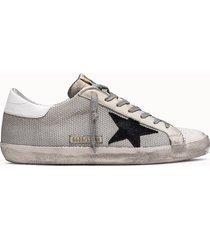 golden goose deluxe brand sneakers super star net grigia