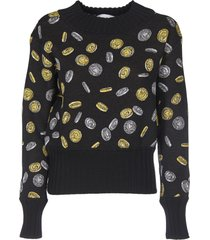 moschino pullover with coin