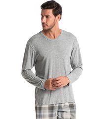 pijama masculino longo xadrez winter