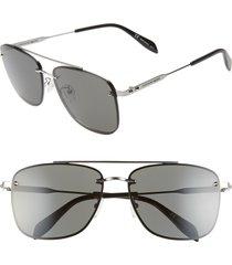 men's alexander mcqueen 62mm oversize navigator sunglasses -