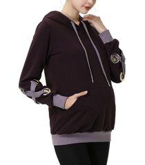 kimi + kai cynthia maternity active hoodie