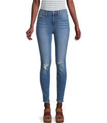 madewell women's high-rise ripped ankle skinny jeans - wilcrest - size 26 (2-4)