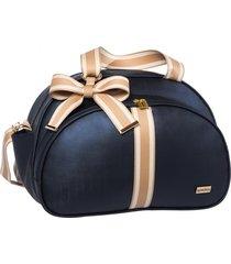 bolsa maternidade lyssa baby duna azul marinho  e bege