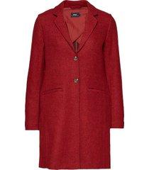 onlnew ella wool coat cc otw yllerock rock röd only
