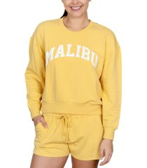 rebellious one juniors' malibu graphic-print sweatshirt