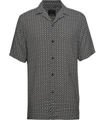 aop s/s resort shirt kortärmad skjorta grå junk de luxe