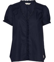 sleeves up s/s blouse blouses short-sleeved blauw odd molly