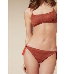 calzedonia federica tie brazilian bikini bottoms woman red size 4