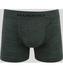 cueca masculina duomo boxer sem costura verde escuro
