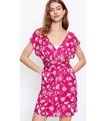 loft loft beach floral crossover waist dress